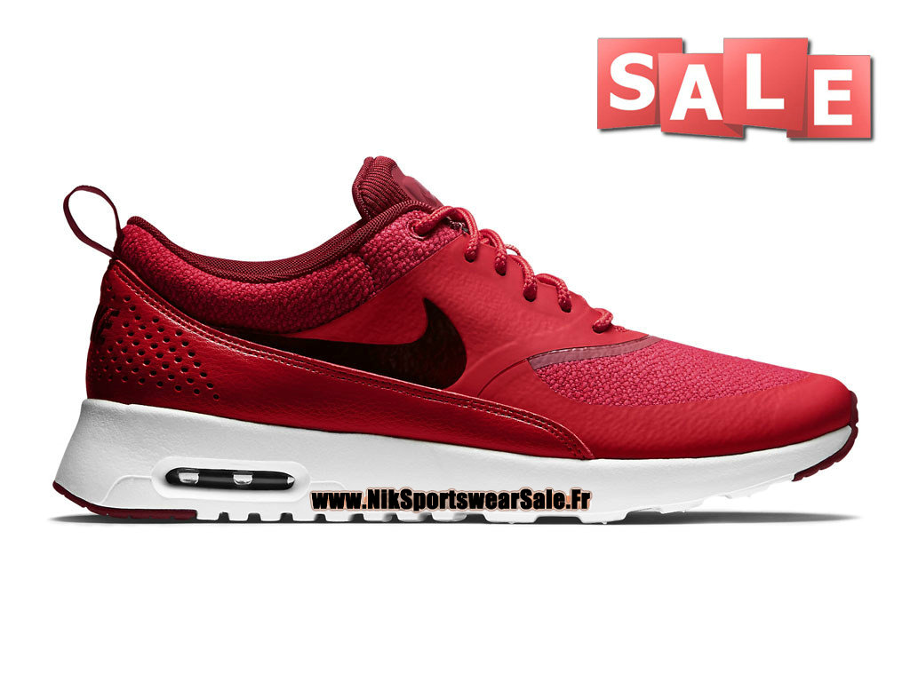 brand new 1a284 f0803 Nike Air Max Thea - Chaussures Nike Sportswear Pas Cher Pour Homme Rouge  action Rouge