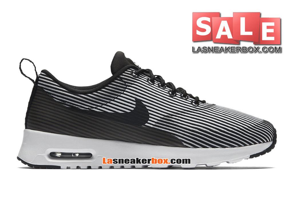 design intemporel 7aa64 10d34 Nike Air Max Thea Jacquard GS - Nike Sportswear Chaussure Pas Cher Pour  Femme/Enfant Noir/Argent métallique/Blanc 718646-003-1611092491-Officiel de  ...