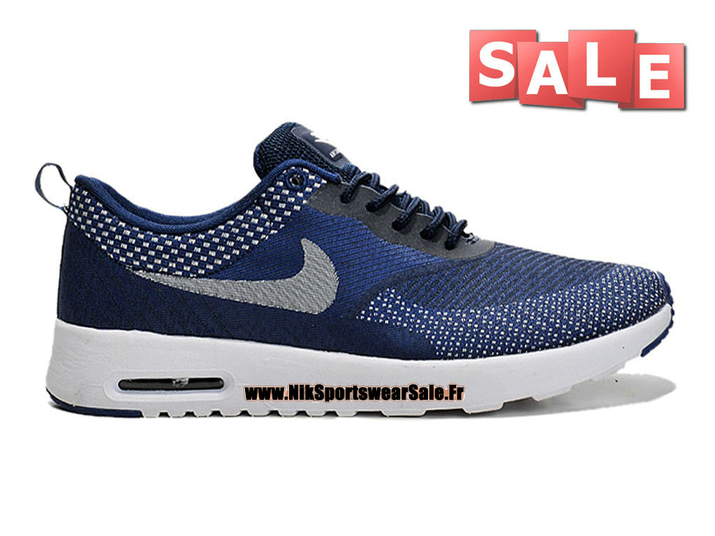nike air max thea jacquard nike id nike sportswear chaussure pas cher pour homme bleu nuit. Black Bedroom Furniture Sets. Home Design Ideas