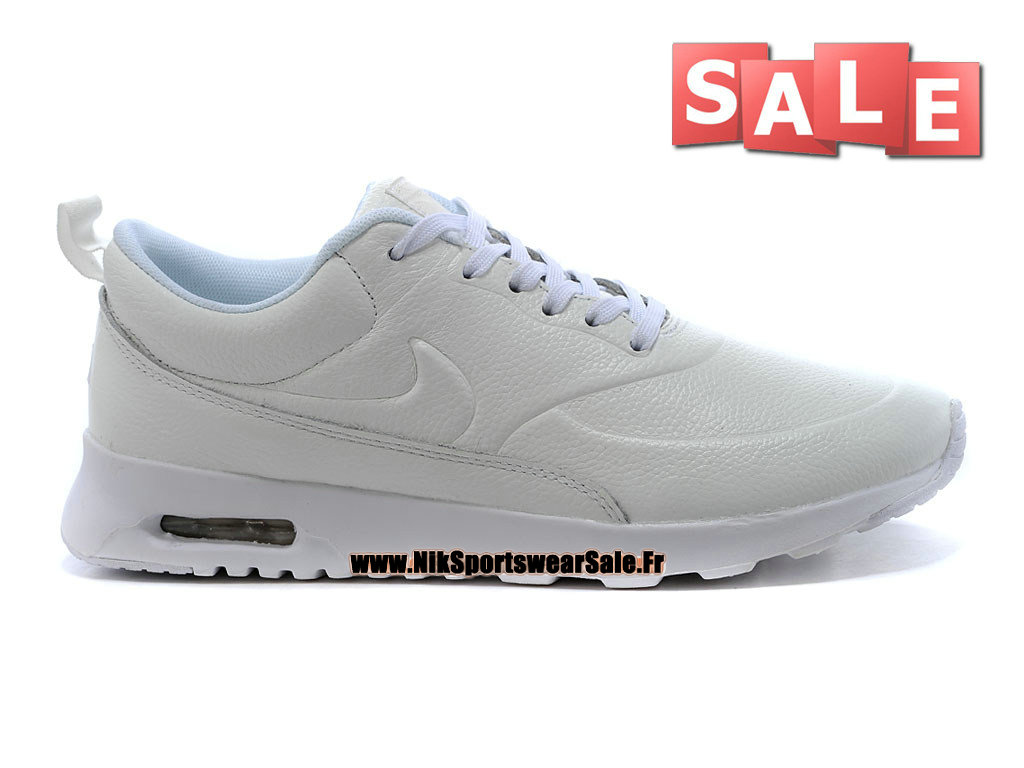 reputable site 89f49 5f53a Nike Air Max Thea Leather - Chaussure Nike Sportswear Pas Cher Pour Homme  Blanc 616723-