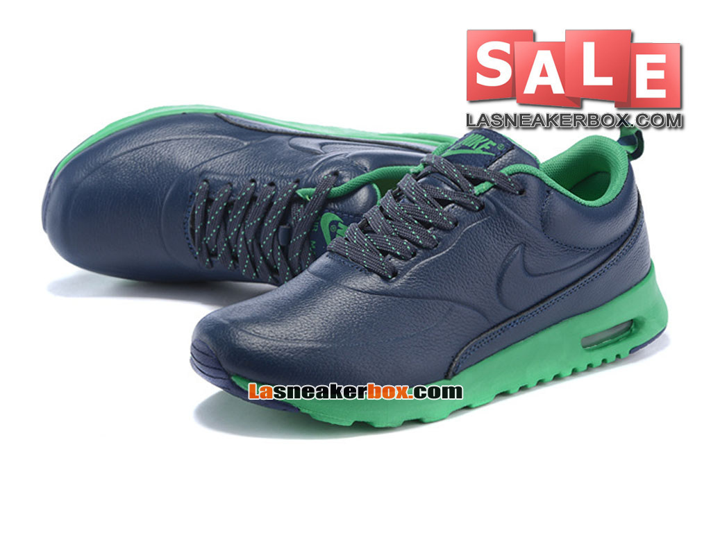 online store 5235b 6174a ... Nike Air Max Thea Leather - Chaussure Nike Sportswear Pas Cher Pour  Homme Bleu nuit marine ...