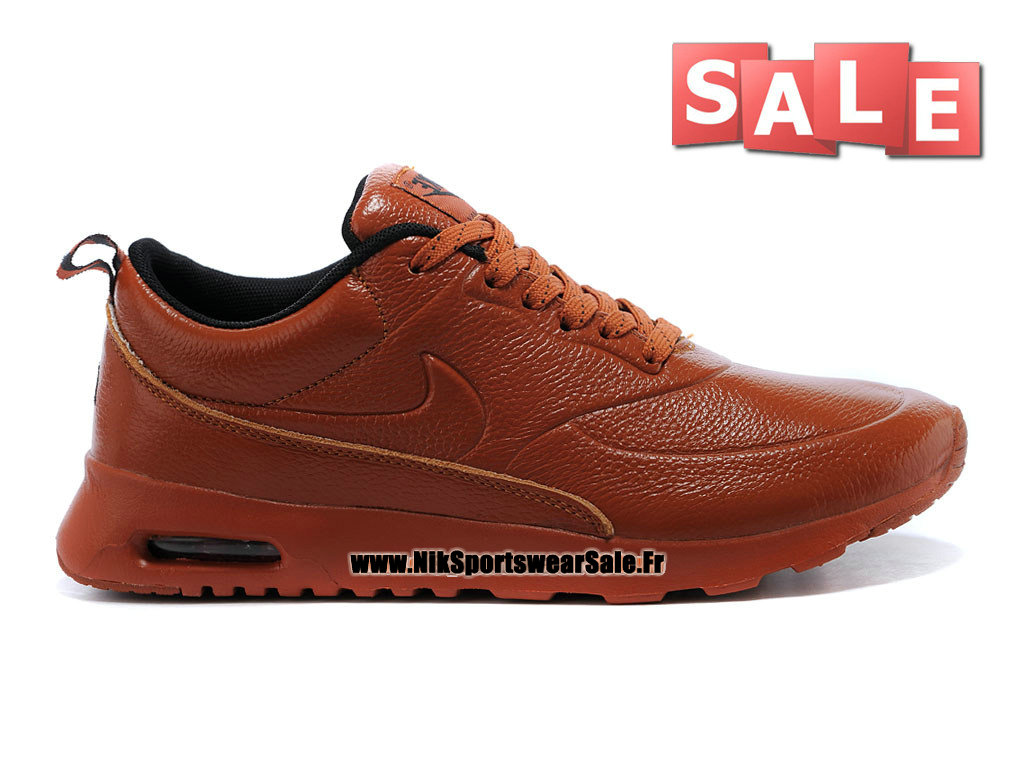 nike air max thea leather chaussure nike sportswear pas cher pour homme brun noir 616723 060id. Black Bedroom Furniture Sets. Home Design Ideas
