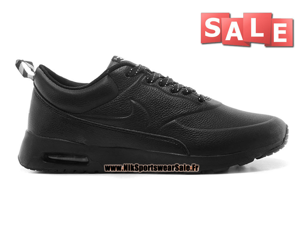 nike air max thea leather chaussure nike sportswear pas cher pour homme noir 616723 608id. Black Bedroom Furniture Sets. Home Design Ideas