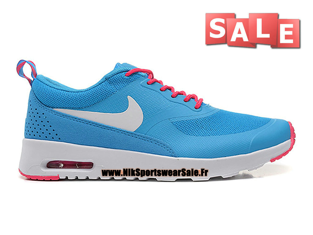 Nike Air Max Thea (Nike iD) GS - Chaussures Officiel Nike Pas Cher Pour Femme/Fille Bleu photo/Blanc/Hyper cocktail 599409-416iD