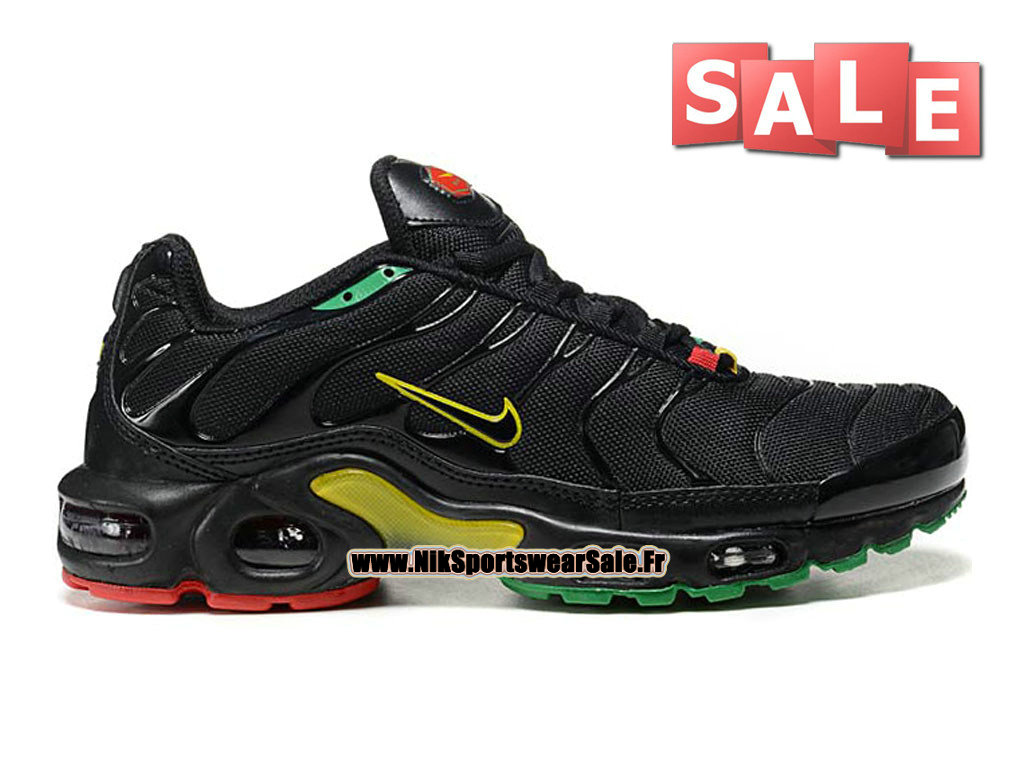 Nike Air Max Tn/Tuned Requin 2015 - Chaussures Nike Sportswear Pas Cher Pour Homme Noir/Jaune/Vert/Rouge 604133-201