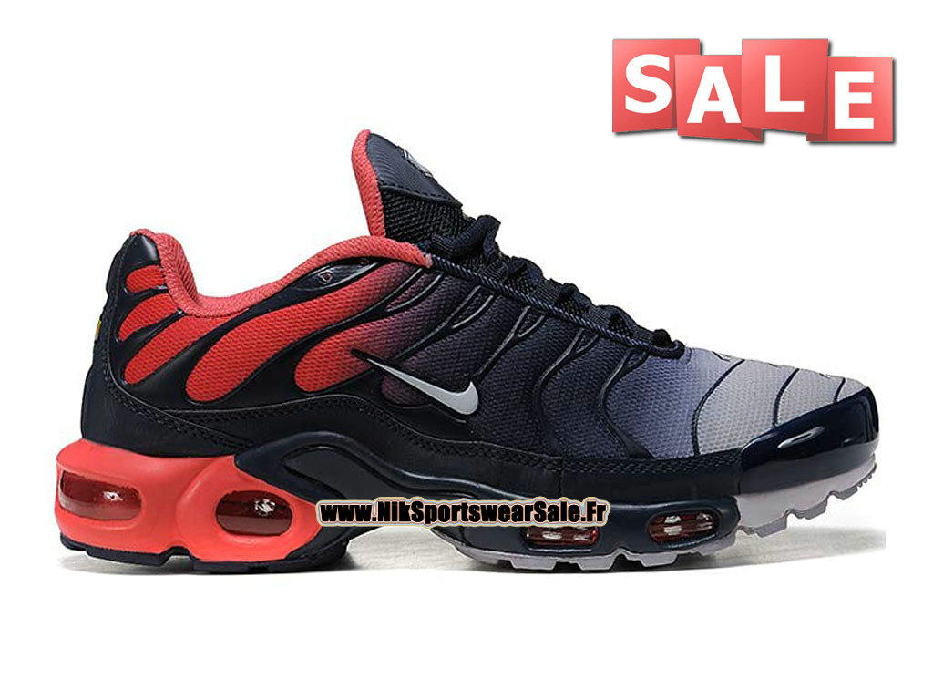 Nike Air Max Tn/Tuned Requin 2015 - Chaussures Nike Sportswear Pas Cher Pour Homme Noir/Rouge/Gris 604133-905