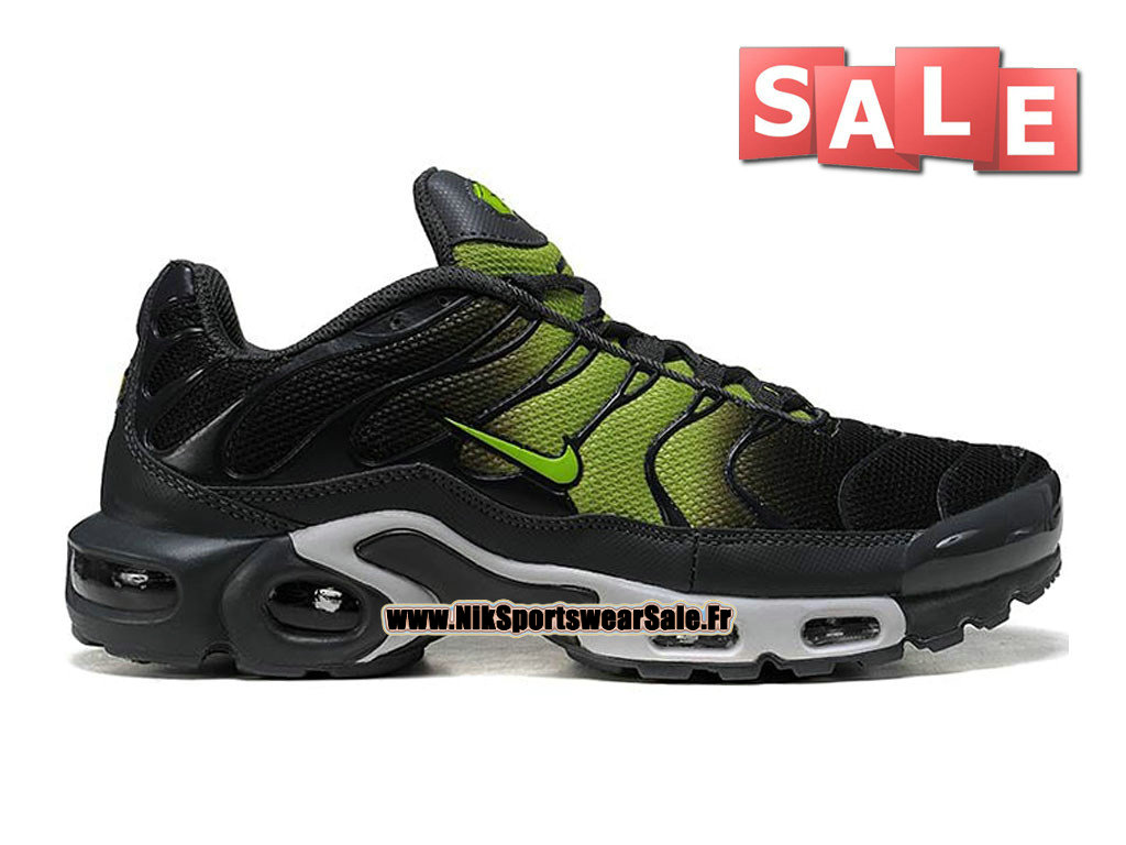 Nike Air Max Tn/Tuned Requin 2015 - Chaussures Nike Sportswear Pas Cher Pour Homme Noir/Vert/Gris 604133-907