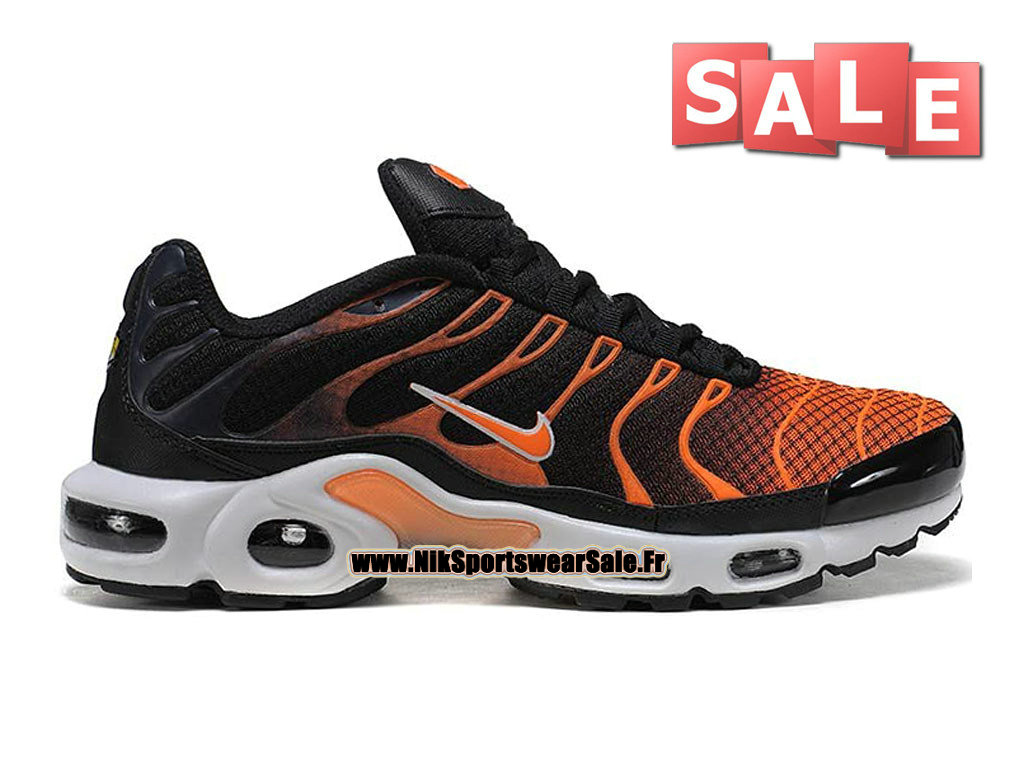 Nike Air Max Tn/Tuned Requin 2015 - Chaussures Nike Sportswear Pas Cher Pour Homme Orange/Noir/Blanc 604133-904