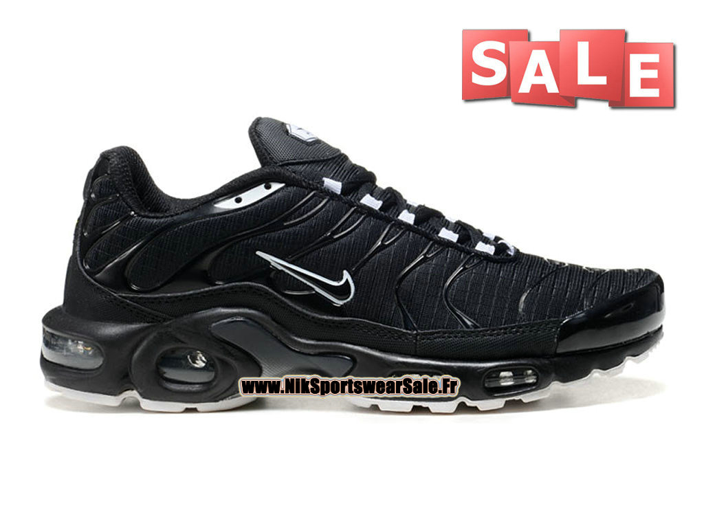 Nike Air Max Tn/Tuned Requin Mesh - Chaussures Nike Sportswear Pas Cher Pour Homme Noir/Blanc 604133-102