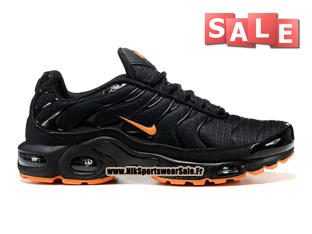 Nike Air Max Tn/Tuned Requin Mesh - Chaussures Nike Sportswear Pas Cher Pour Homme Noir/Orange 604133-111