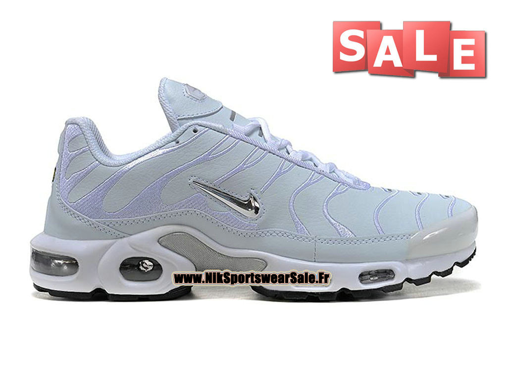 Nike Air Max Tn/Tuned Requin TPU - Chaussures Nike Sportswear Pas Cher Pour Homme Blanc/Argent/Noir 604133-002