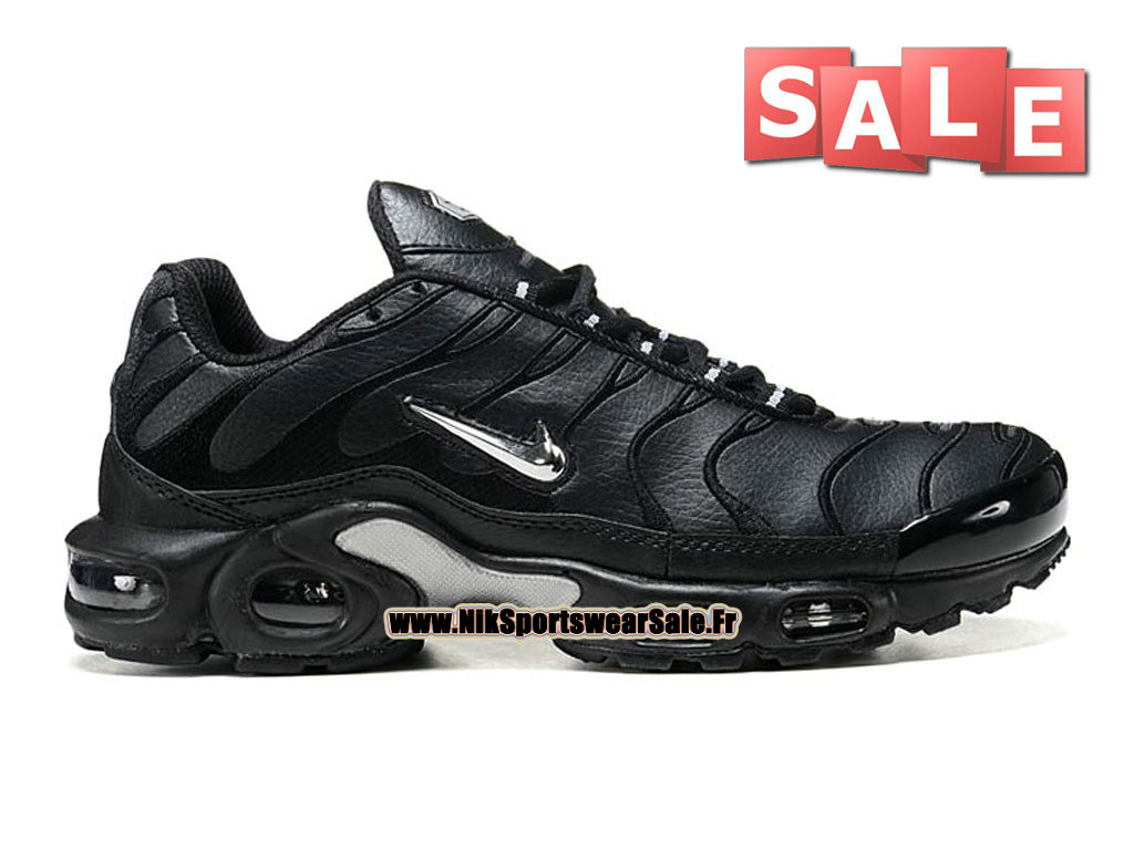 Nike Air Max Tn/Tuned Requin TPU - Chaussures Nike Sportswear Pas Cher Pour Homme Noir/Argent 604133-001