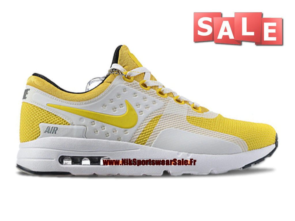 reputable site 04fd2 697a9 Nike Air Max Zero - Chaussure Mixte Nike Sportswear Pas Cher (Taille Homme)  Jaune ...