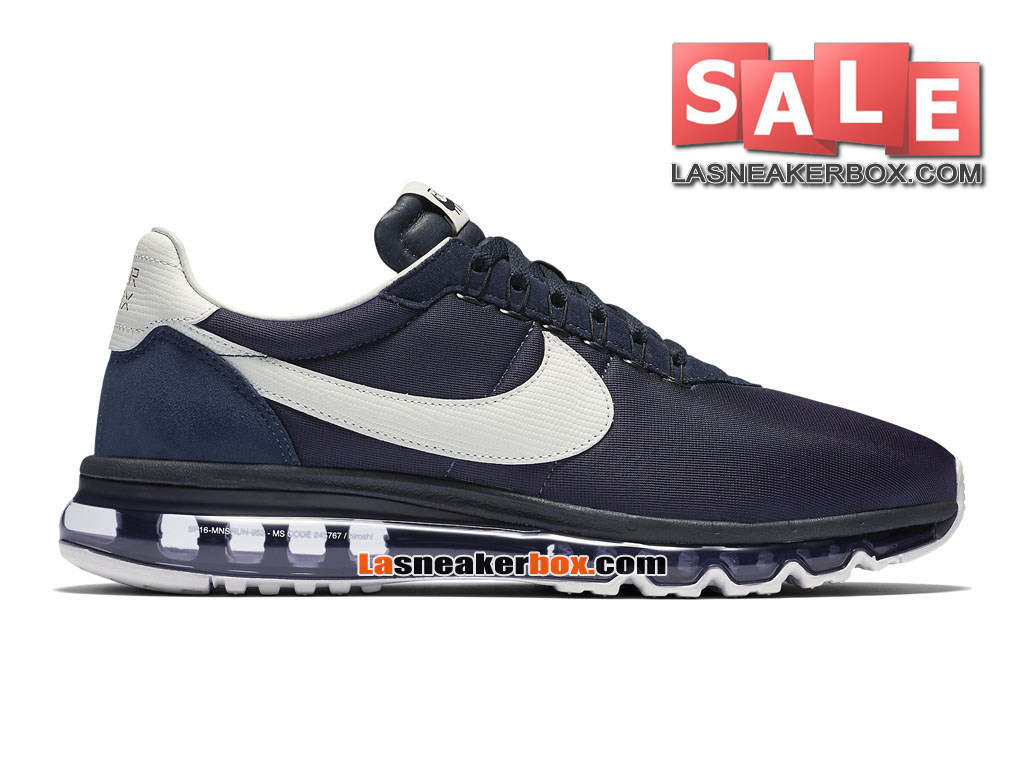 Nike Air Max Zero - Chaussure Mixte Nike Sportswear Pas Cher (Taille Homme) Obsidienne/Blanc 848624-410