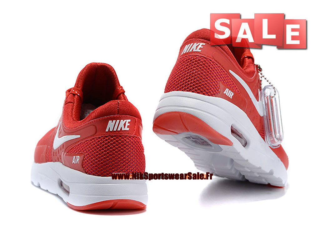 nike air max zero chaussure mixte nike sportswear pas cher taille homme rouge blanc 789695. Black Bedroom Furniture Sets. Home Design Ideas
