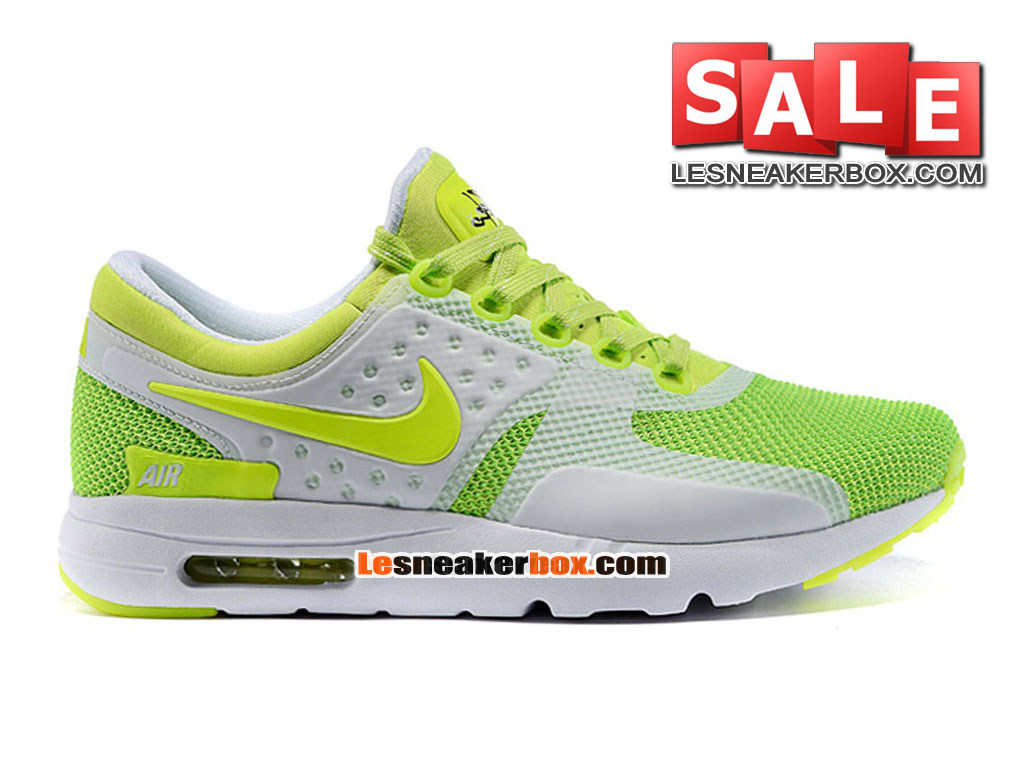 Nike Air Max Zero - Chaussure Mixte Nike Sportswear Pas Cher (Taille Homme) Volt/Vert ardent/Blanc 789695-011iD