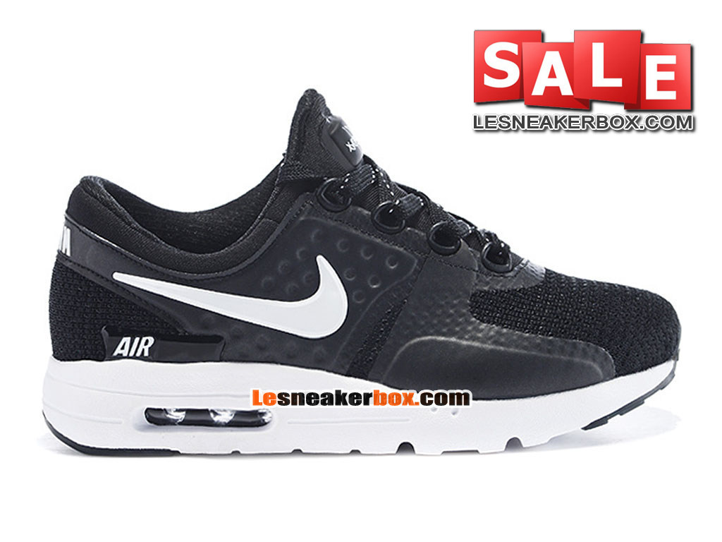 nike air max zero ps chaussure nike sportswear pas cher pour petit gar on taille 28 35 noir. Black Bedroom Furniture Sets. Home Design Ideas