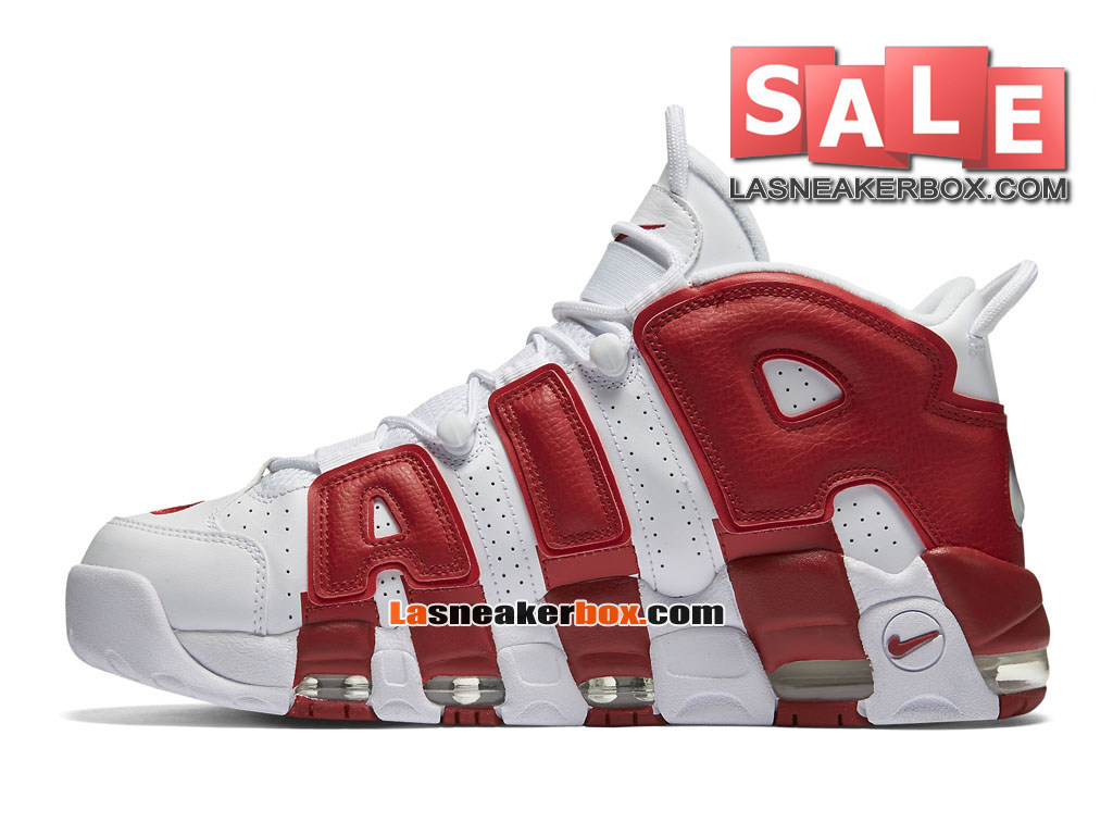 on sale a1684 a55d5 ... Nike Air More Uptempo (2016) - Chaussures Nike LifeStyle Pas Cher Pour  Homme Blanc ...