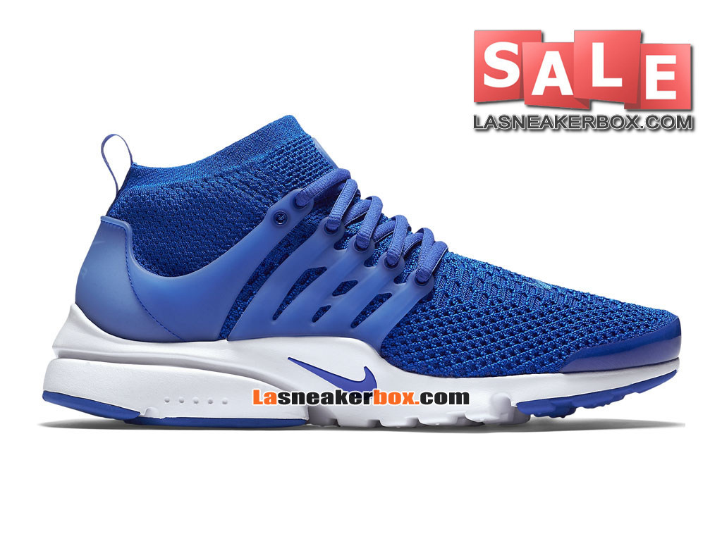 nike air presto ultra flyknit chaussures de sports nike pas cher pour homme bleu coureur blanc. Black Bedroom Furniture Sets. Home Design Ideas