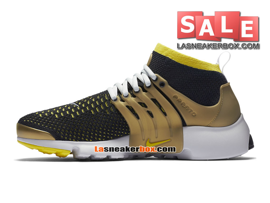 82d8e4c8a11 Nike Air Presto Ultra Flyknit - Men´s Nike Sports Shoes Black/Neutral  Grey/Metallic Gold/Yellow Streak 835570-007-1701052819-Boutique Nike Cheap  2017 ...