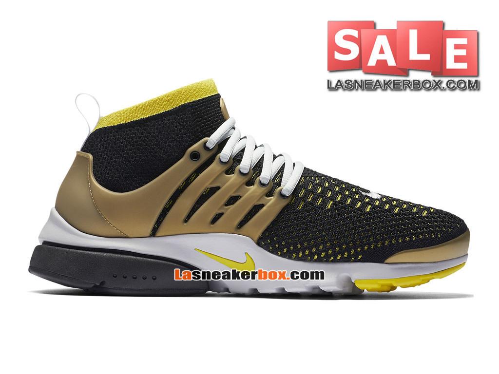 Nike Air Presto Ultra Flyknit - Chaussures de Sports Nike Pas Cher Pour Homme  Noir/ ...