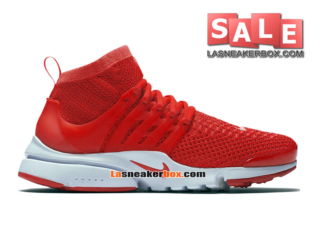 Nike Air Presto Ultra Flyknit - Chaussures de Sports Nike Pas Cher Pour Homme Rouge sportif/Crimson total/Blanc 835570-600