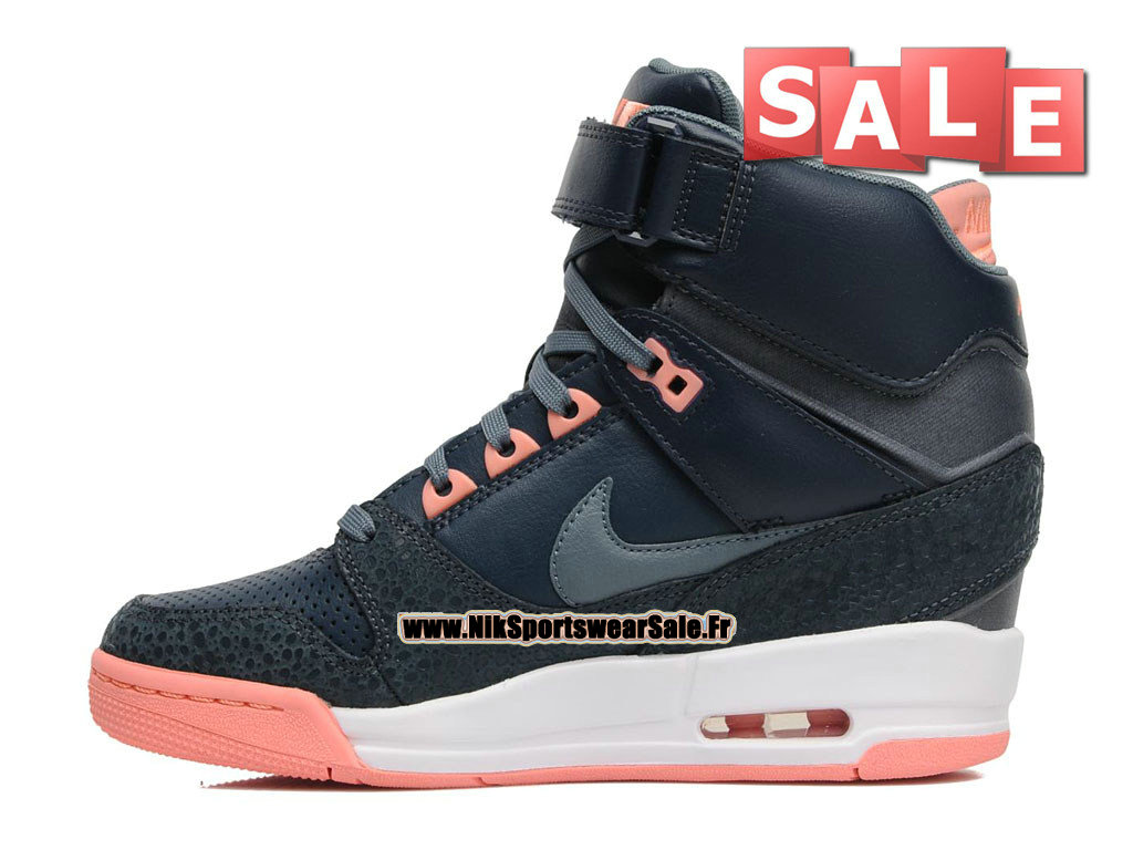 new styles 6c3fd 76c2b ... Nike Air Revolution Sky Hi GS - Women´s Nike Sport Fashion Shoe Dark  Blue ...