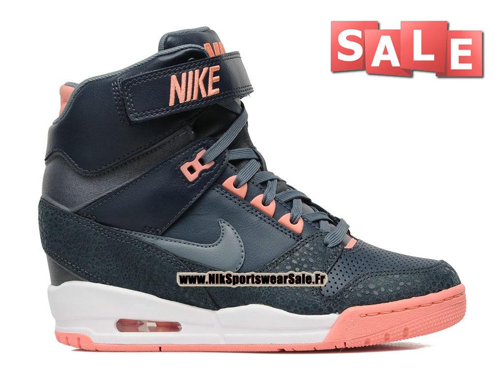 super popular 689a0 8298e Nike Air Revolution Sky Hi GS - Women´s Nike Sport Fashion Shoe Dark Blue  ...