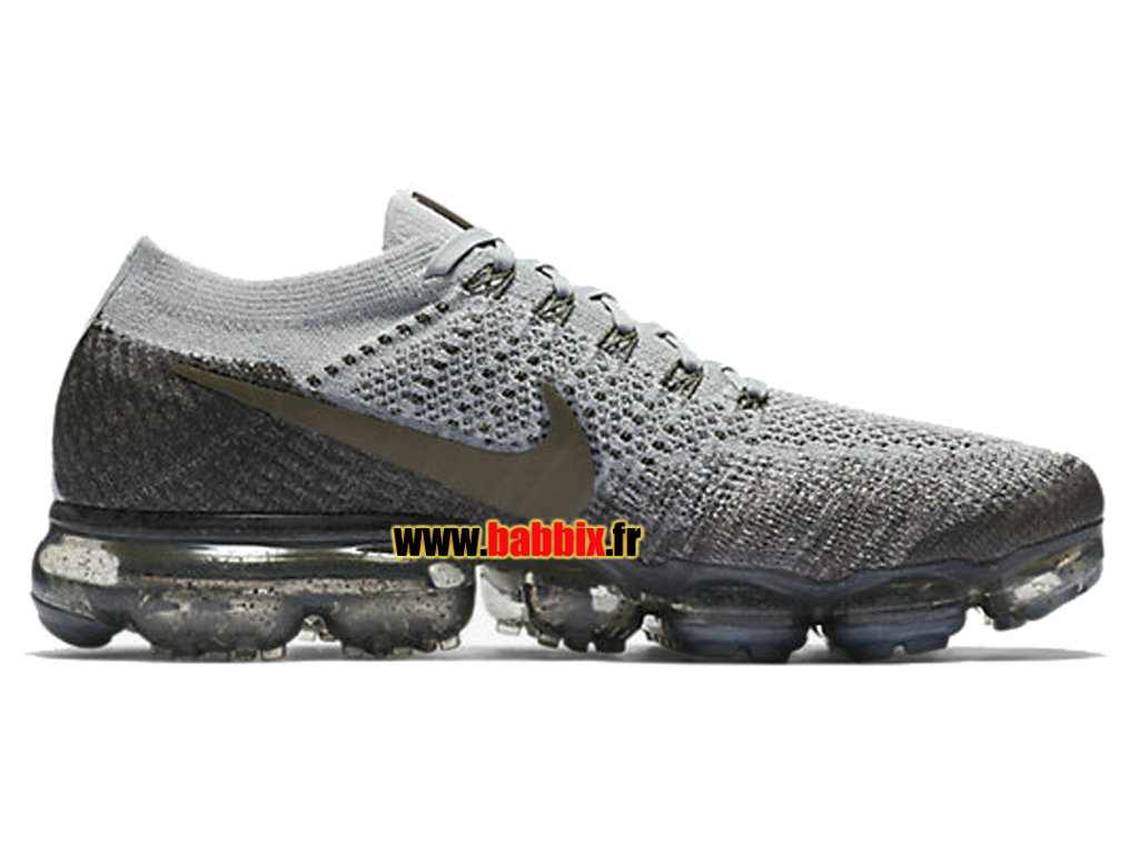 Nike Air VaporMax Flyknit Blanc/Gris 899473-009 Chaussure Running Homme