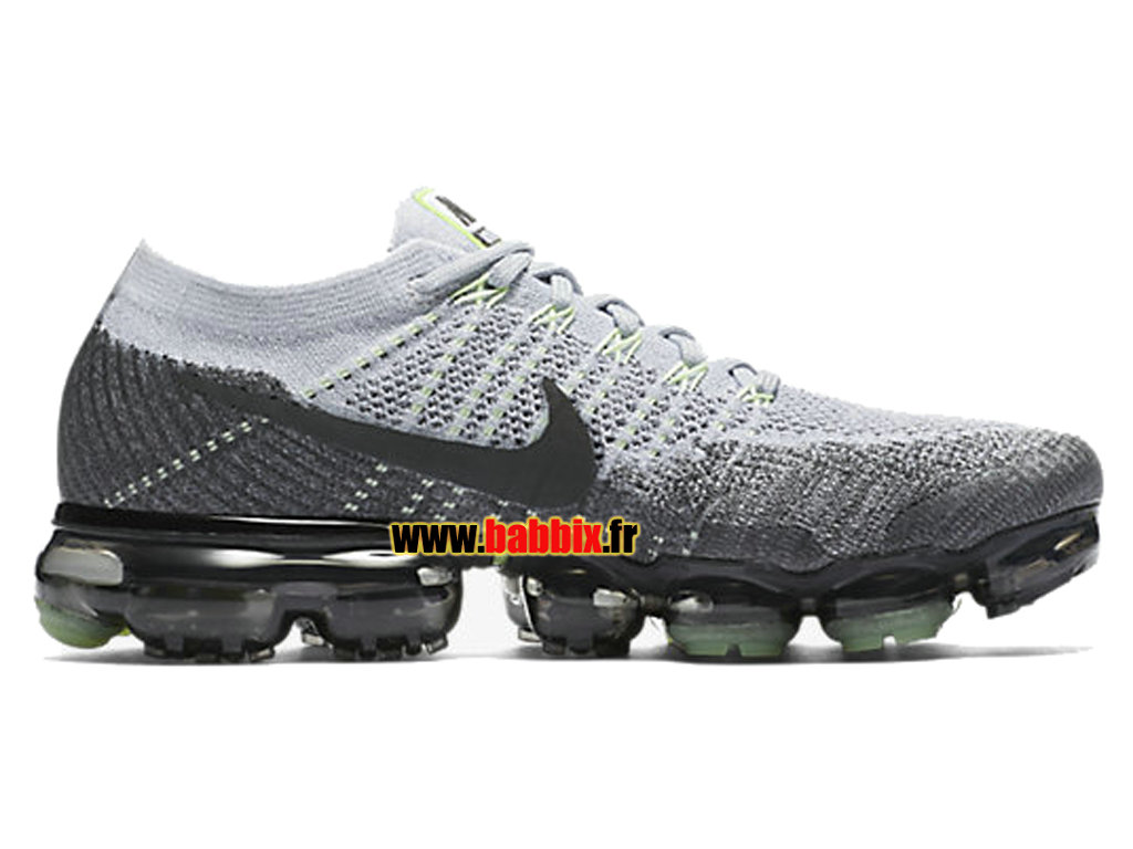best authentic 7c8a9 bafde Loading zoom. Nike Air VaporMax Flyknit Blanc Noir 922915-002 Chaussure  Running Homme ...