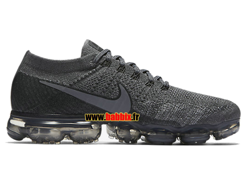 low priced b693f c2cec Loading zoom. Nike Air VaporMax Flyknit Gris Noir 899473-005 Chaussure  Running Homme ...