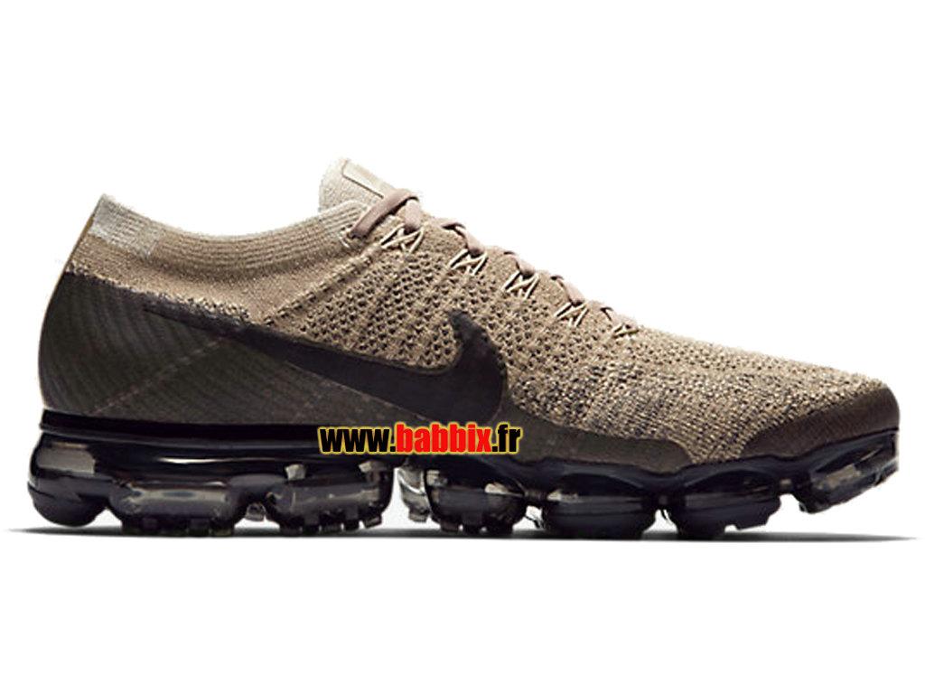 cheaper 8bbc3 950a2 Nike Air VaporMax Flyknit Kaki Noir Gris Charbon 849558-201 Chaussure  Running ...