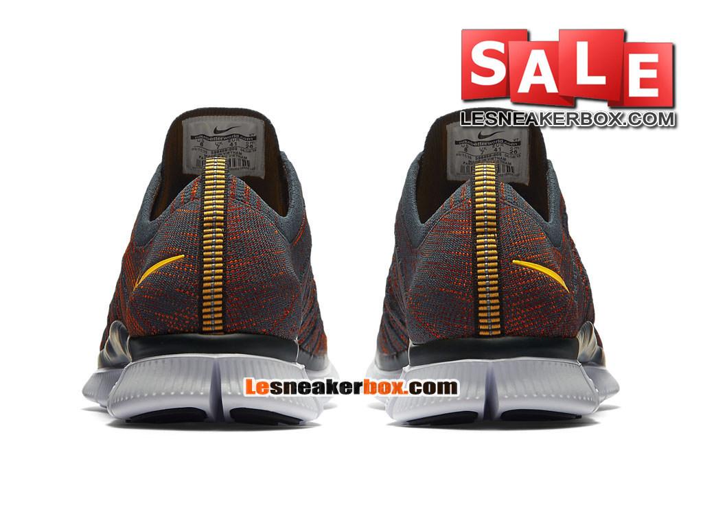 e41f72135402 Nike Free Flyknit NSW 5.0 - Men´s Nike Sports Shoe Anthracite Gym Red Total  Orange Laser Orange 599459-008 (Item No.:599459-008)