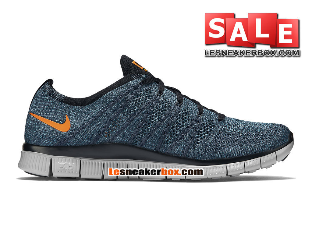 7ef698017ed3 Nike Free Flyknit NSW 5.0 - Men´s Nike Sports Shoe Squadron Blue Chlorine