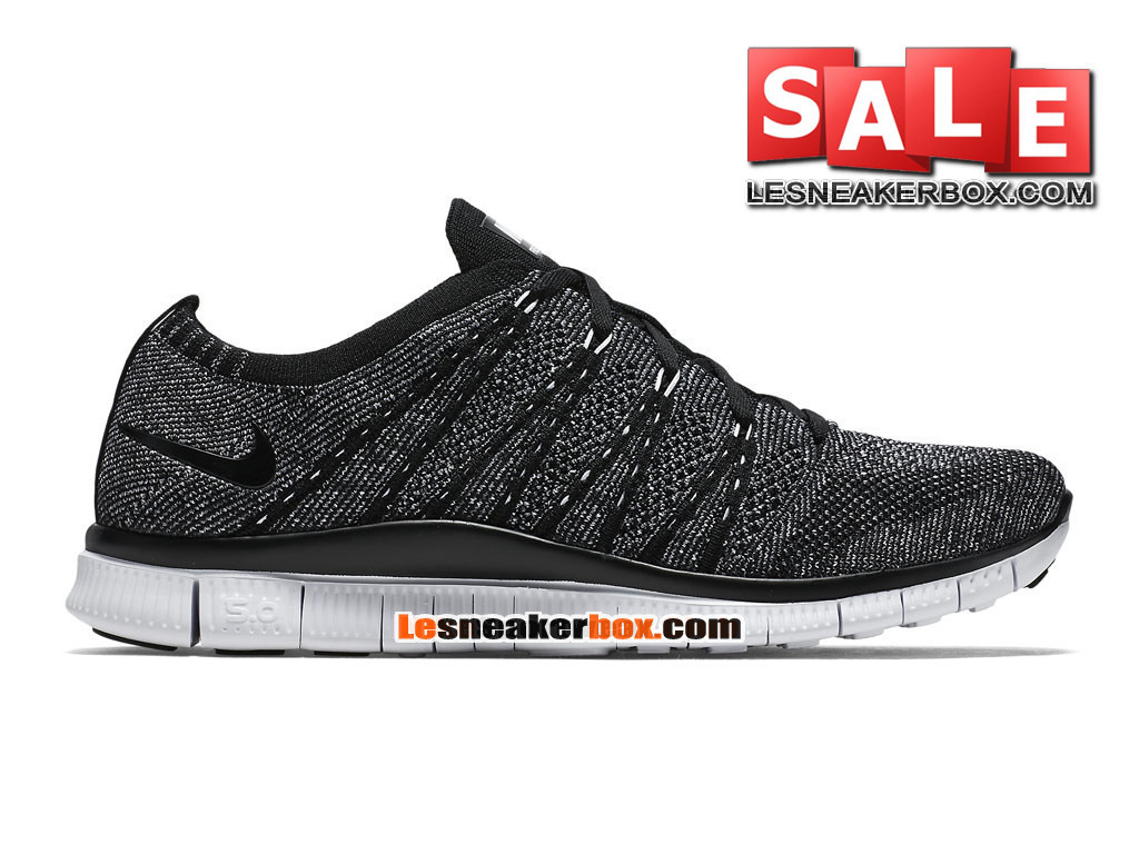 new concept 84b5e 93b7a Nike Free Flyknit NSW 5.0 - Men´s Nike Sports Shoe BlackWhite