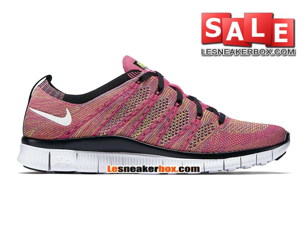 Nike Free Flyknit NSW 5.0 - Men´s Nike Sports Shoe Pink Flash/Volt