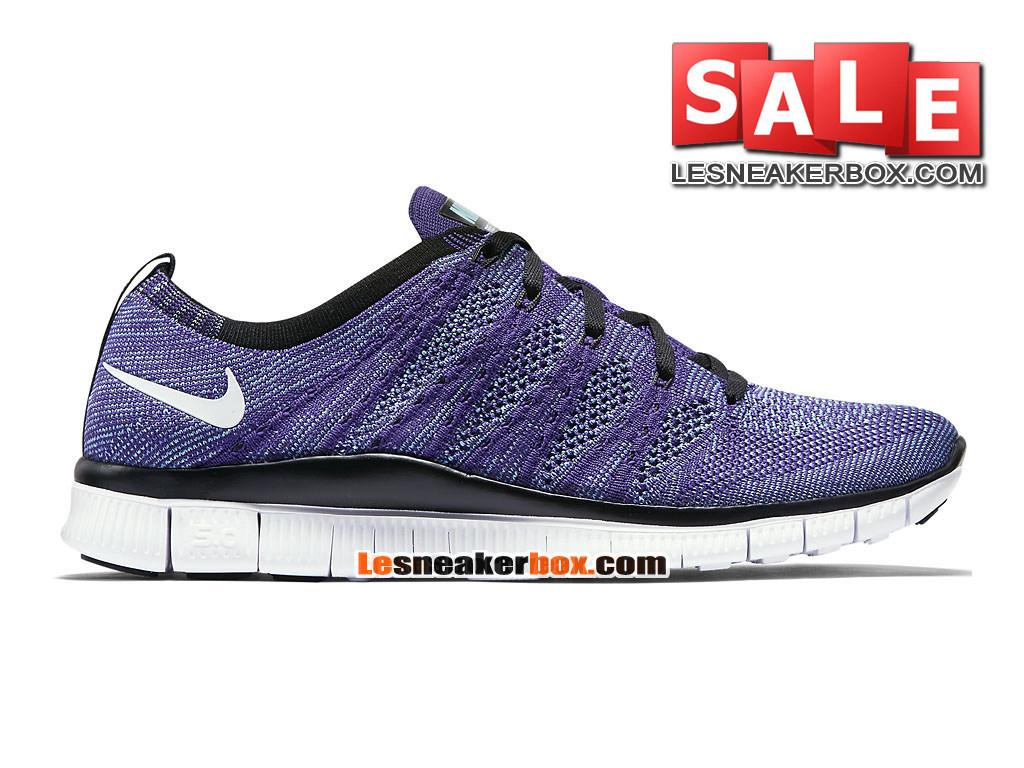 big sale ef7ef 8d23b Nike Free Flyknit NSW 5.0 - Men´s Nike Sports Shoe Court Purple Polarised