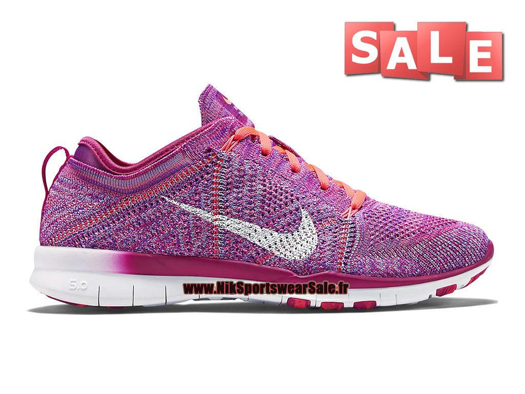 2b51e227fd3d Nike Free TR 5.0 Flyknit GS - Chaussure de Training Nike Pas Cher Pour Femme   ...