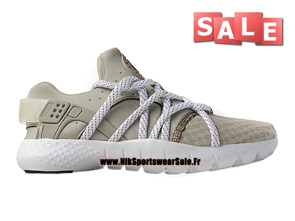Nike Huarache NM (Natural Motion) iD - Nike Officiel Pas Cher Chaussures Pour Homme Gris Loup/Blanc 705159-002iD