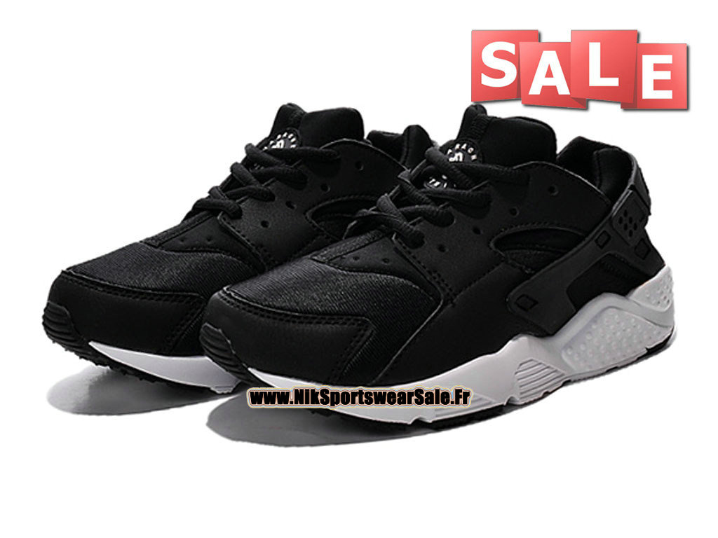 nike huarache run ps chaussure nike sportswear pas cher pour petit gar on taille 28 35 noir. Black Bedroom Furniture Sets. Home Design Ideas