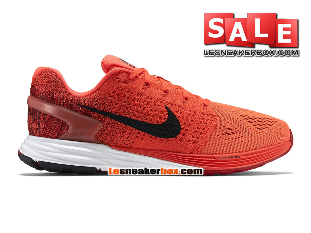 ... nike lunarglide 7 men´s nike running shoe bright crimson gym red . ...