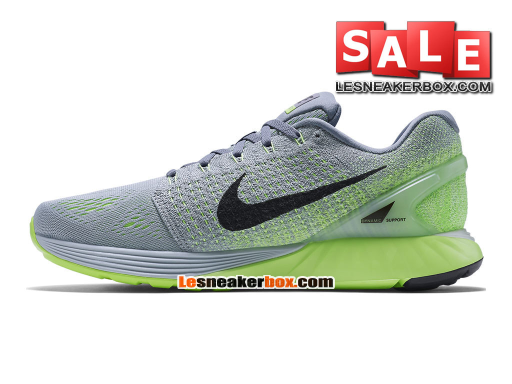 huge discount f1dad 0a7bf ... new zealand nike lunarglide 7 mens nike running shoe wolf grey ghost  green a1fb0 97d41 ...