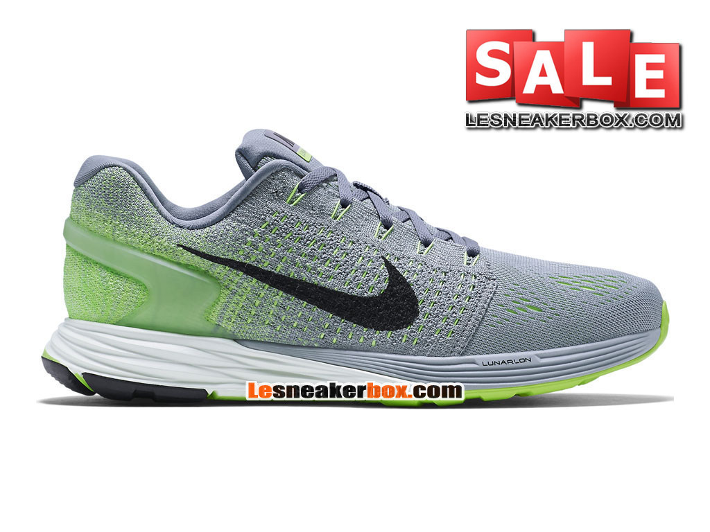 various colors 2c7e3 32c0c Nike LunarGlide 7 - Men´s Nike Running Shoe Wolf Grey Ghost Green