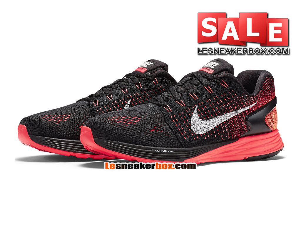 buy popular eb3da 7f096 ... coupon code for nike lunarglide 7 mens nike running shoe black bright  crimson university 408f1 1bd0a ...