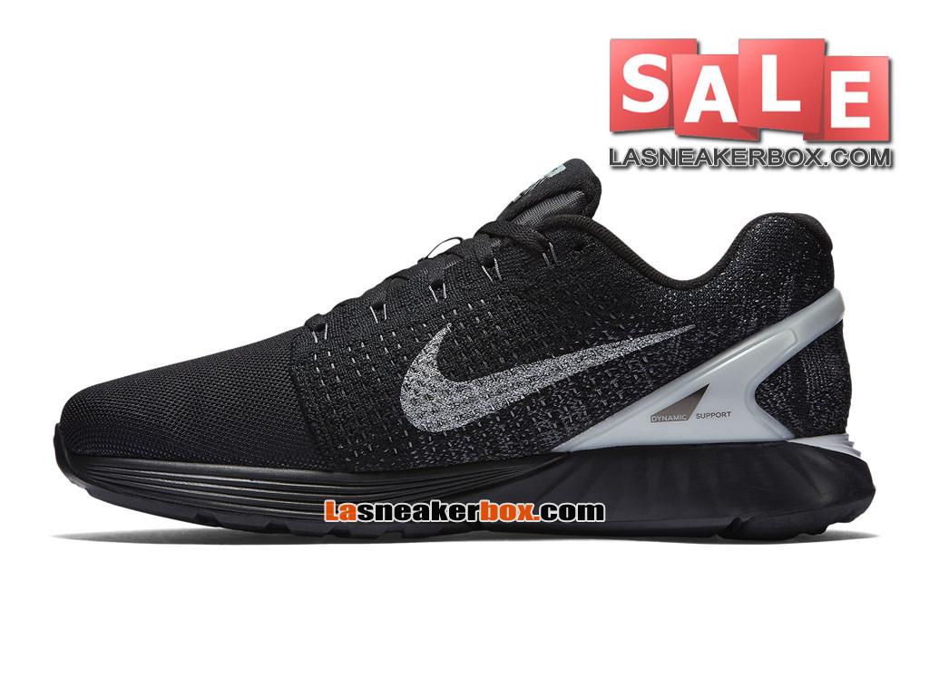 premium selection f78f8 d9c43 ... Nike LunarGlide 7 - Chaussure de Running Nike Pas Cher Pour Homme Noir Platine  pur ...