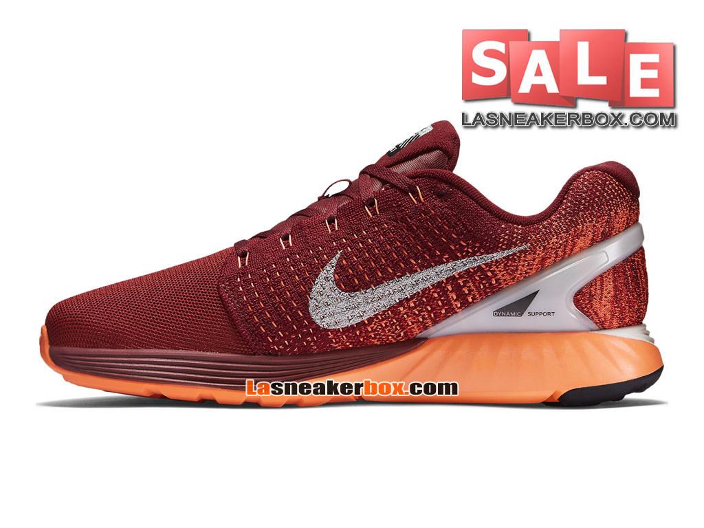 7882bb07fbd3 ... Nike LunarGlide 7 - Chaussure de Running Nike Pas Cher Pour Homme Rouge  équipe Argent ...