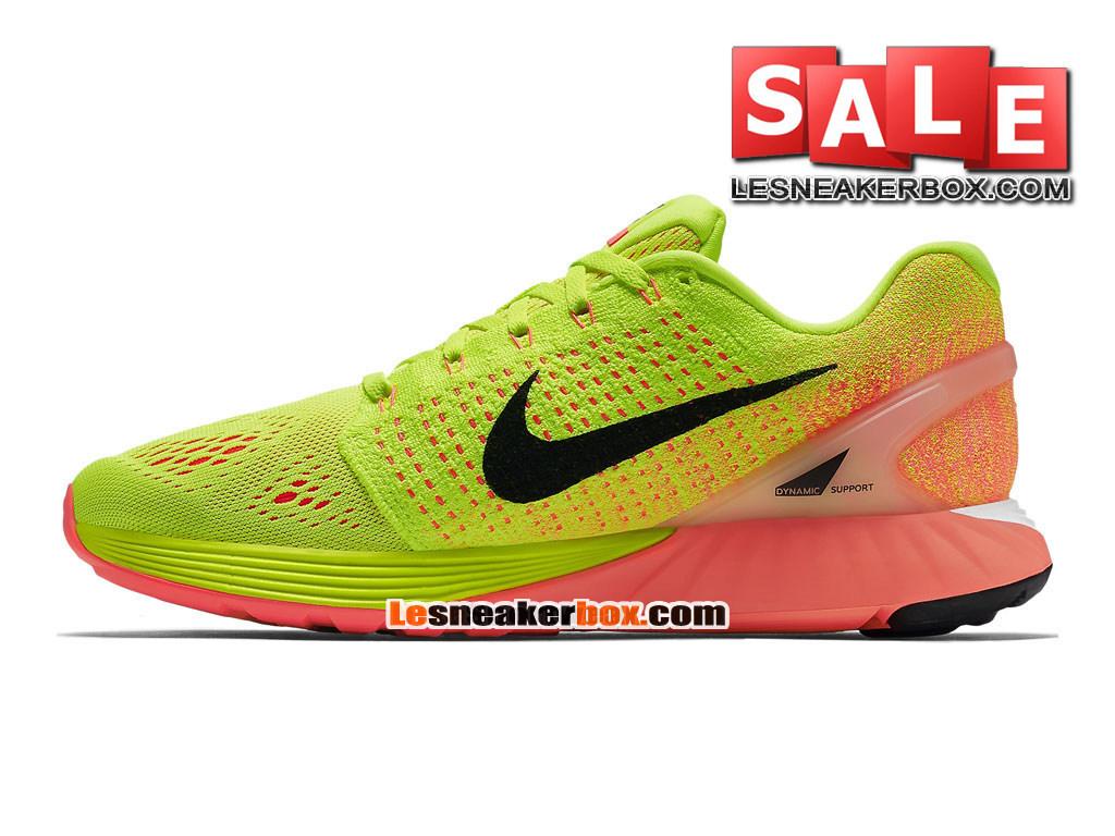 wholesale dealer 4e6ee 6d5a6 ... Nike LunarGlide 7 - Chaussure de Running Nike Pas Cher Pour Homme Volt Crépuscule  brillant ...