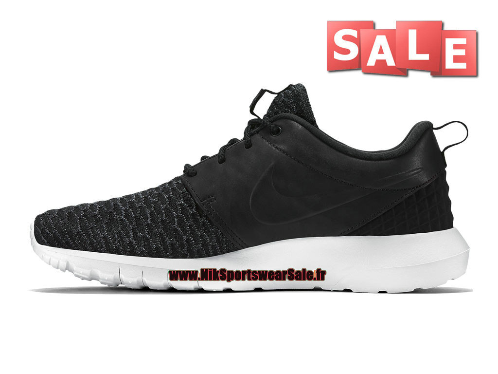 ... Nike Roshe One Flyknit Premium - Chaussure de Sports Nike Pas Cher Pour  Homme Noir/ ...