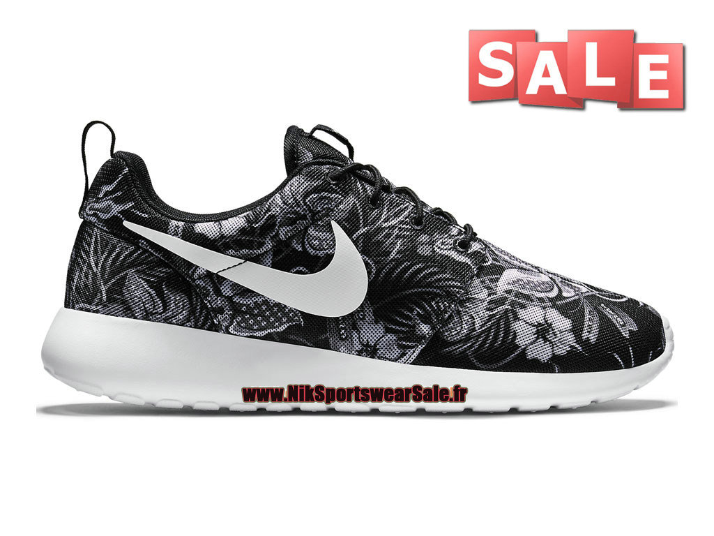 best sneakers 8b781 56a57 Nike Roshe One Print - Chaussure de Nike Sportswear Pas Cher Pour Homme  Bleu-Gris ...