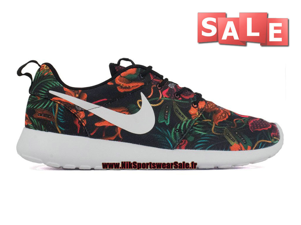promo code 731fe 8a486 Nike Roshe One Print - Chaussure de Nike Sportswear Pas Cher Pour Homme  Orange total  ...